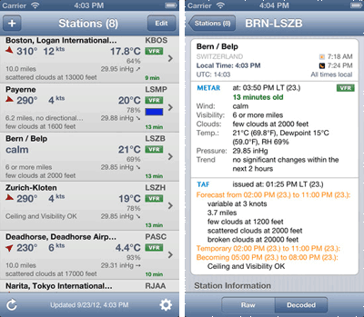 Best free weather apps for iPhone - Aero weather