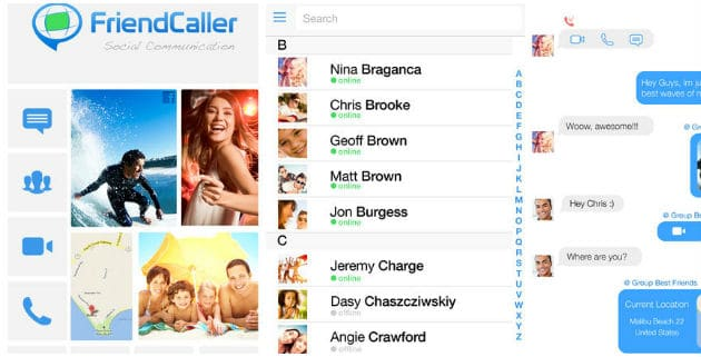 FriendCaller Video Chat iPad app