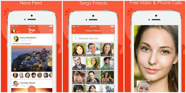 video calling app Tango for iPhone