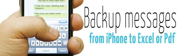 How to backup iphone sms to computer