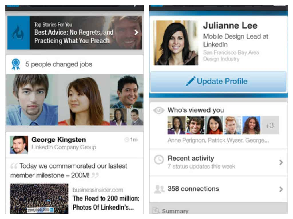 LinkedIn for iphone