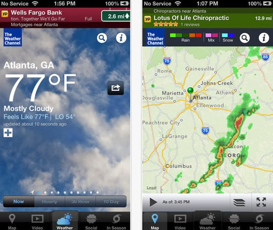 The Weather Channel - best weather app for iphone