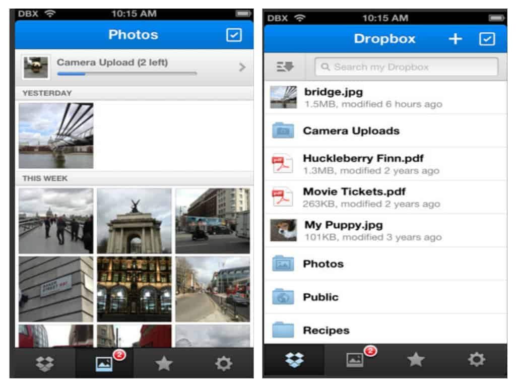 Dropbox for iPhone, iPad