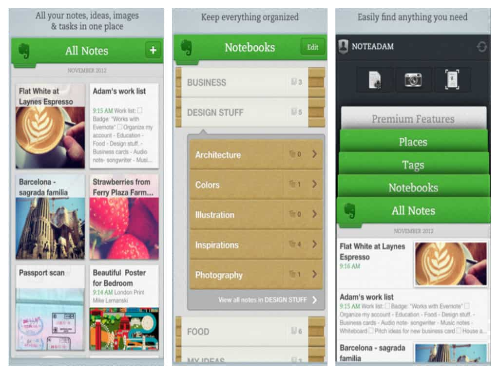 Evernote for iPhone, iPad