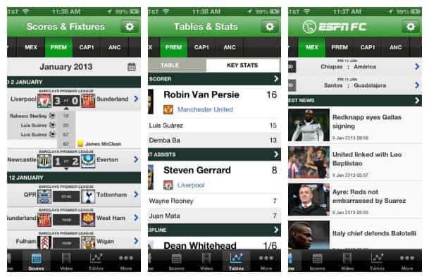 iPhone football app ESPN FC
