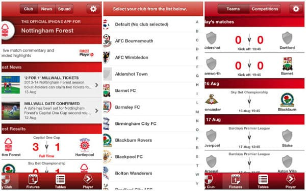 Football League – Official Clubs' App for iPhone