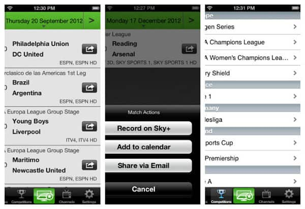 Live Football on TV for iPad