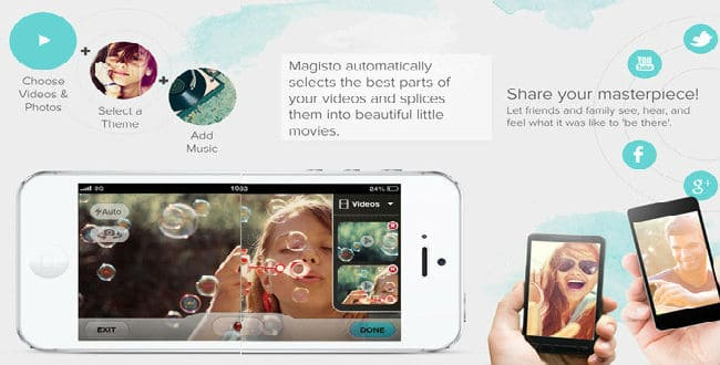 Magisto Magical iphone Video Editor app for iOS