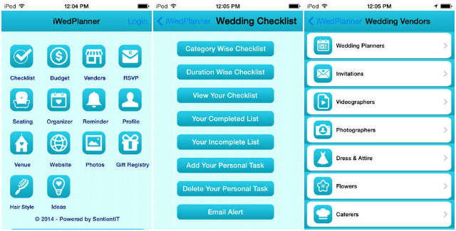 iWedPlanner - The Wedding Planner for iPhone