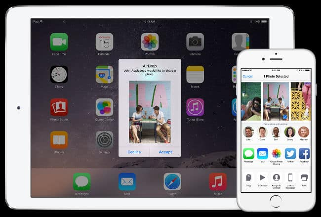 transfer files from your iOS device to Mac airdrop