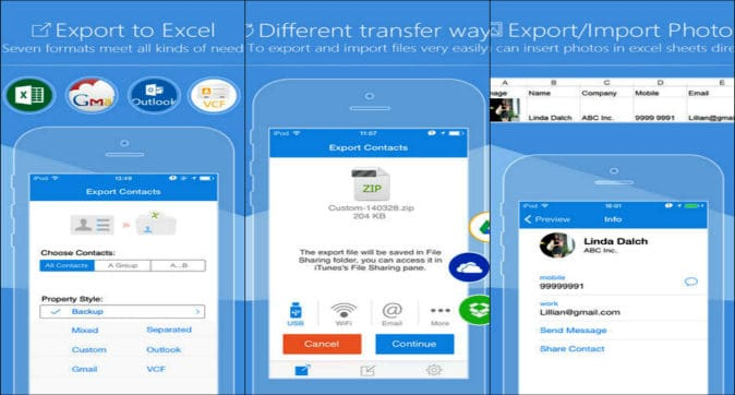 export contacts from iPhone to pc without itunes