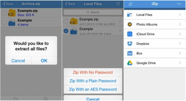 how to unzip files on iphone