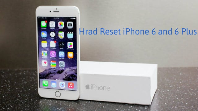 Hard reset iphone 6 plus