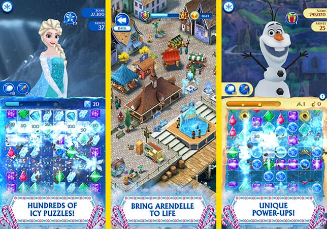 Disney Frozen Free Fall game