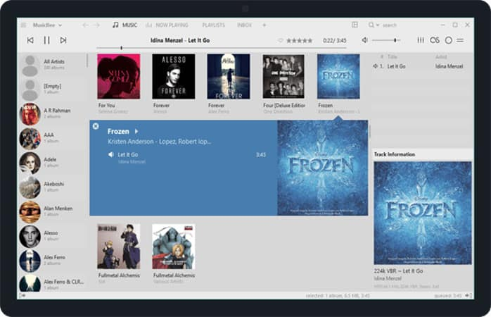 MusicBeesoftware like itunes