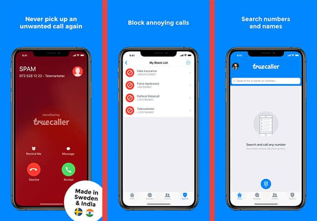Truecaller Identify Spam call on iphone