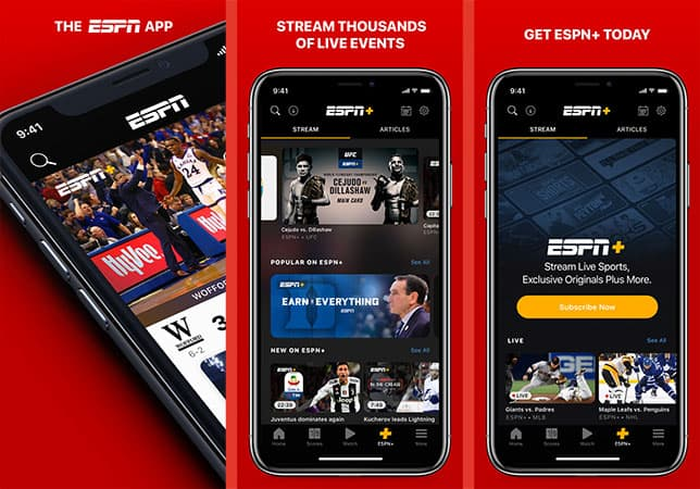 ESPN football nfl app for iphone