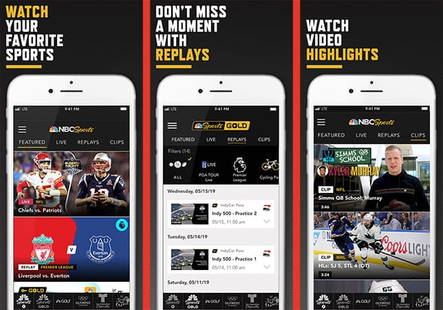 NBC Sports app for iphone