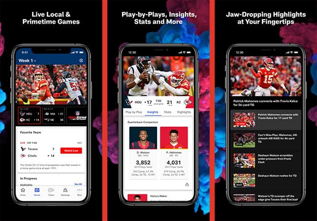 Official NFL app for iPhone