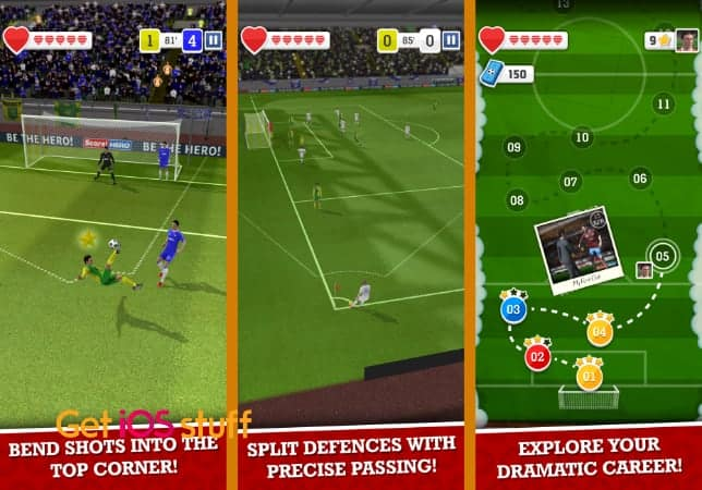 Score! Hero soccer game for iphone ipad