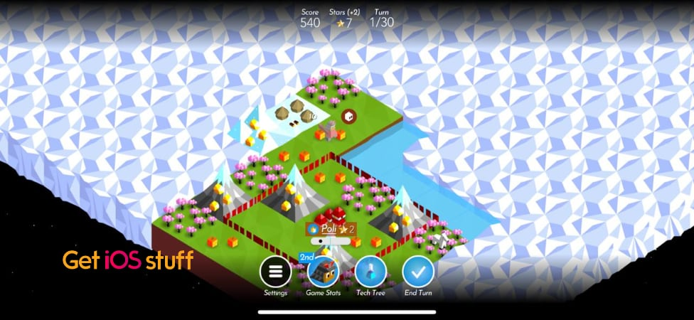 Battle of Polytopia turn based strategy game for iPad