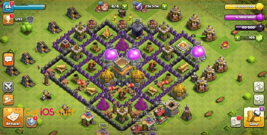 Clash of Clans popular iphone strategy game
