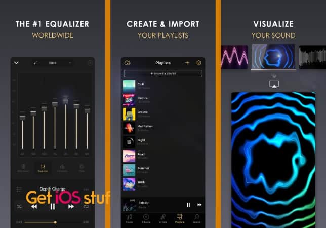 Equalizer+ HD music player app iOS