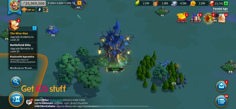 Rise of Kingdoms real time strategy game for mobile