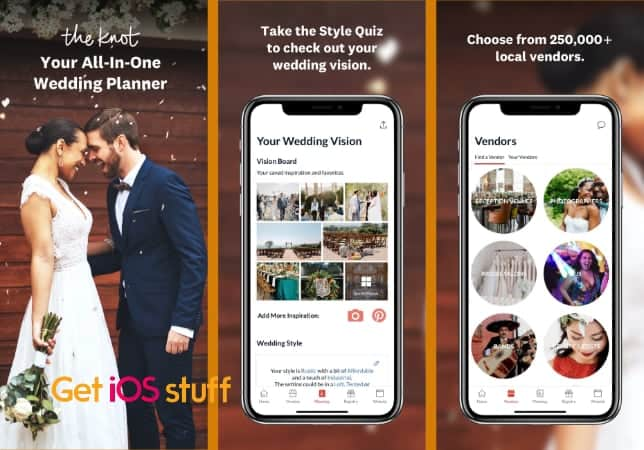 The Knot Wedding Planner app for iphone