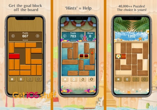 Unblock Me sliding block logic game for mobile