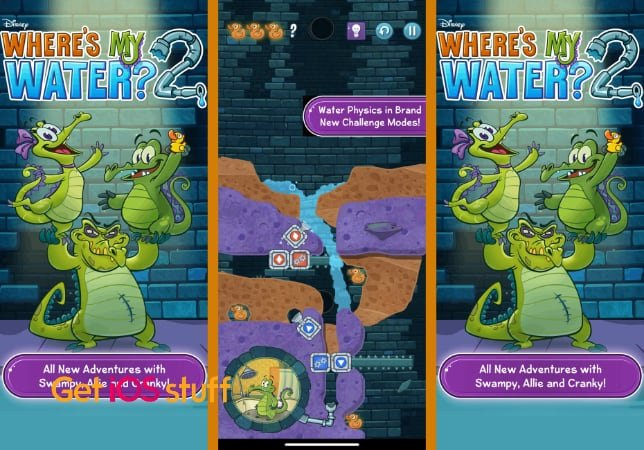 Where's My Water puzzle for iOS