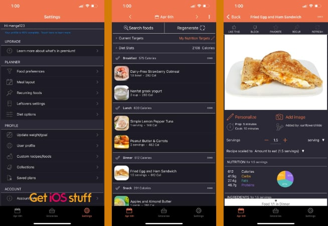 Eat This Much - Meal Planner app for smartphone