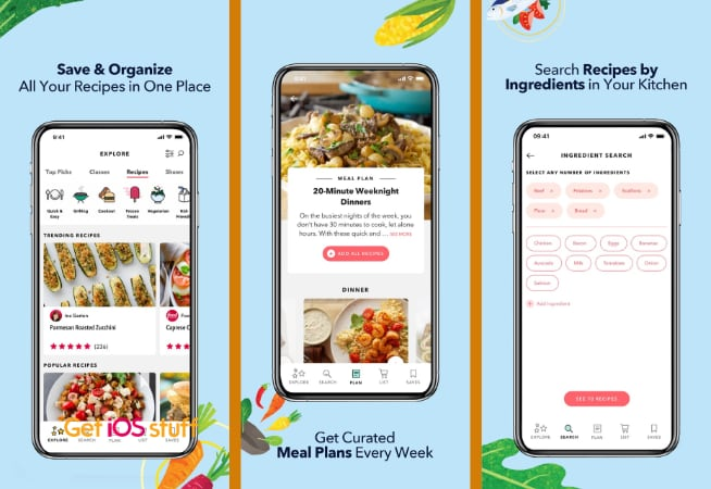 Food Network Recipes, how-tos & meal plans app