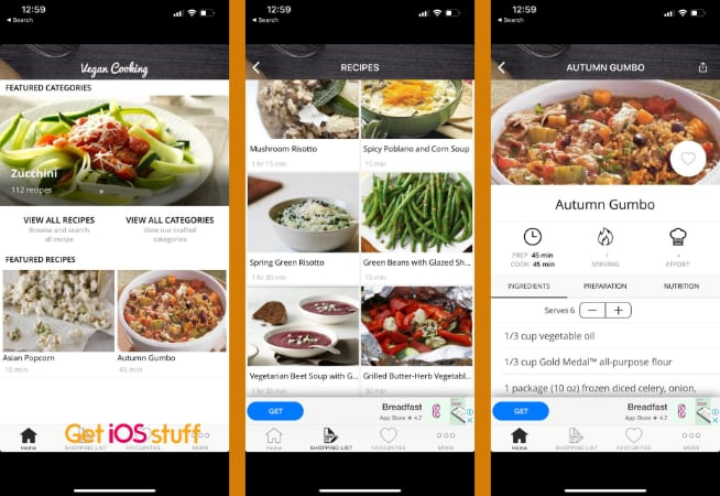 Vegan Meal Plan app for iPhone and iPad