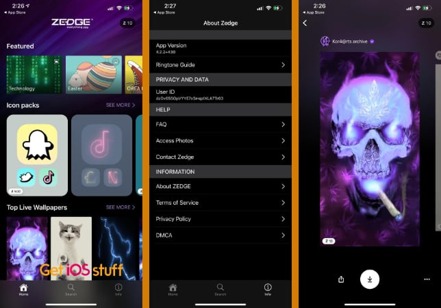 ZEDGE Wallpapers app for Backgrounds & Live Wallpapers