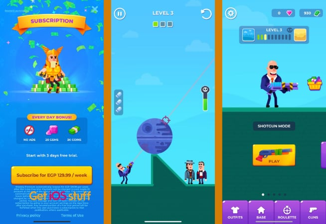 Hitmasters iphone physics game