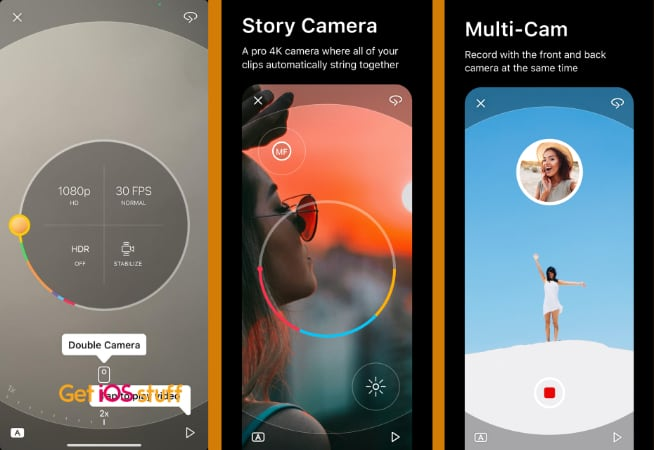 Spark Video Camera app for iPhone